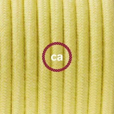 Pendel in porcellana, lampada sospensione cavo tessile Cotone Giallo Pastello RC10