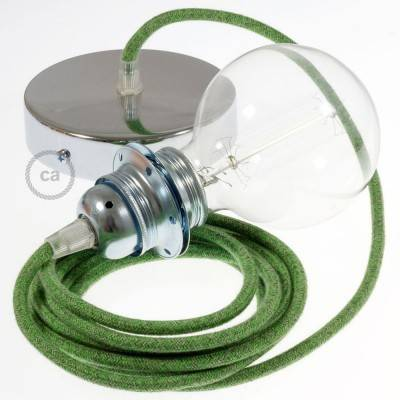 Pendel per paralume, lampada sospensione cavo tessile Cotone Bronte RX08