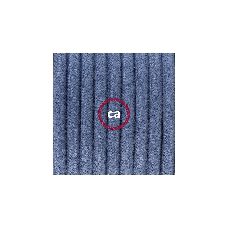 Cablaggio per piantana, cavo RC30 Cotone Grigio Pietra 3 m. Scegli il colore dell'interruttore e della spina.
