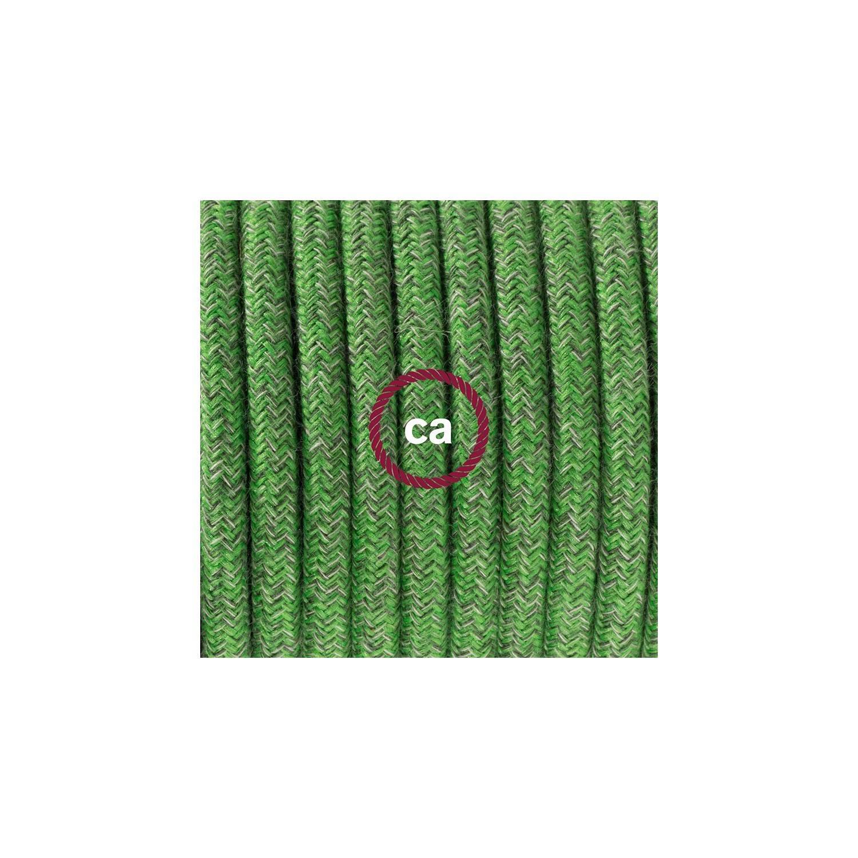 Cablaggio per piantana, cavo RX08 Cotone Bronte 3 m. Scegli il colore dell'interruttore e della spina.