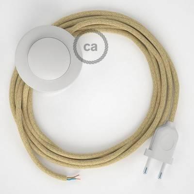 Cablaggio per piantana, cavo RN06 Juta 3 m. Scegli il colore dell'interruttore e della spina.