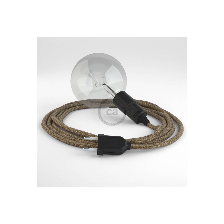 Configura il tuo Snake Lino Naturale Glitterato Marrone RS82 e porta la luce dove vuoi tu.