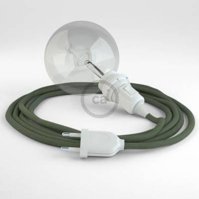 Configura il tuo Snake per paralume Cotone Grigio Verde RC63 e porta la luce dove vuoi tu.