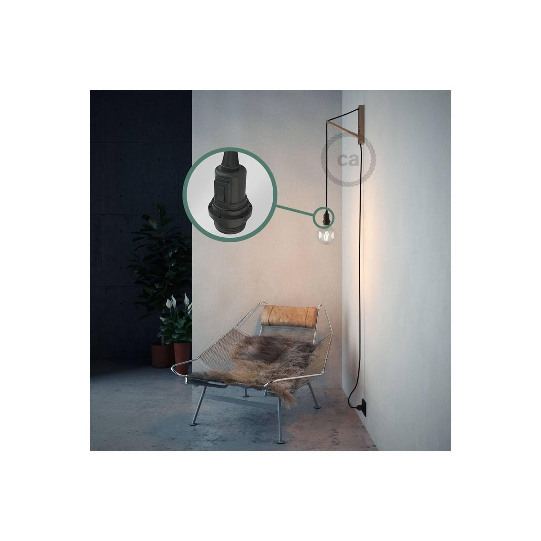 Configura il tuo Snake per paralume Effetto Seta Nero RM04 e porta la luce dove vuoi tu.