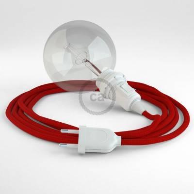 Configura il tuo Snake per paralume Effetto Seta Rosso RM09 e porta la luce dove vuoi tu.