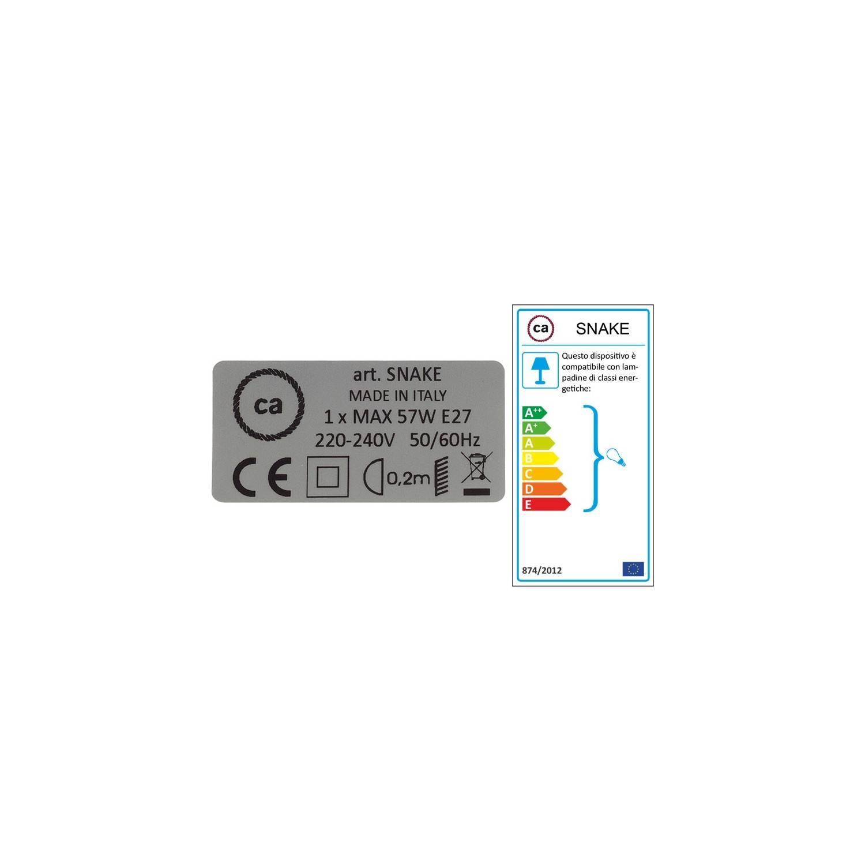 Configura il tuo Snake per paralume Effetto Seta Azzurro Baby RM17 e porta la luce dove vuoi tu.