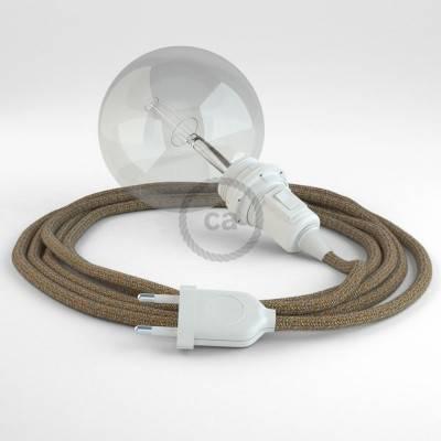 Configura il tuo Snake per paralume Lino Naturale Glitterato Marrone RS82 e porta la luce dove vuoi tu.