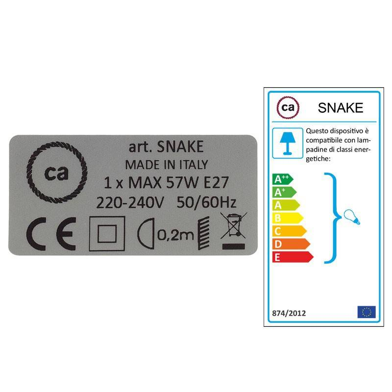 Configura il tuo Snake per paralume Cotone Nero TC04 e porta la luce dove vuoi tu.