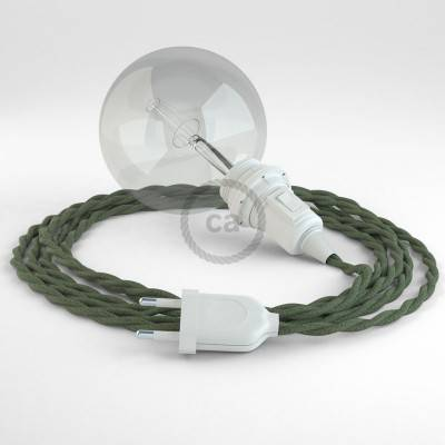 Configura il tuo Snake per paralume Cotone Grigio Verde TC63 e porta la luce dove vuoi tu.