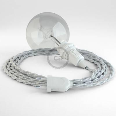 Configura il tuo Snake per paralume Effetto Seta Argento TM02 e porta la luce dove vuoi tu.