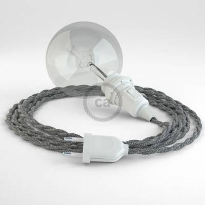 Configura il tuo Snake per paralume Lino Naturale Grigio TN02 e porta la luce dove vuoi tu.