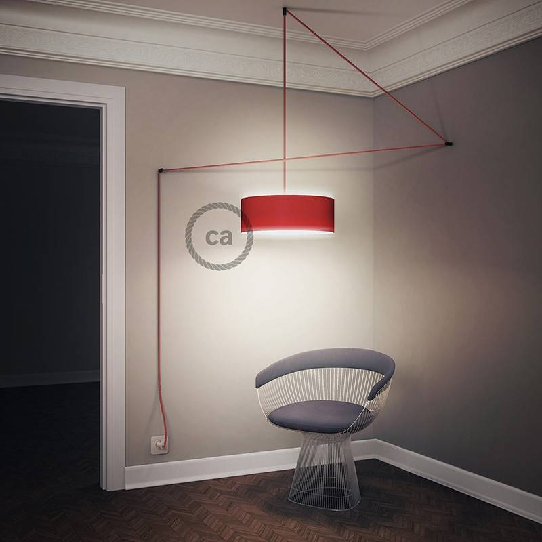 Configura il tuo Snake per paralume Lino Naturale Marrone TN04 e porta la luce dove vuoi tu.