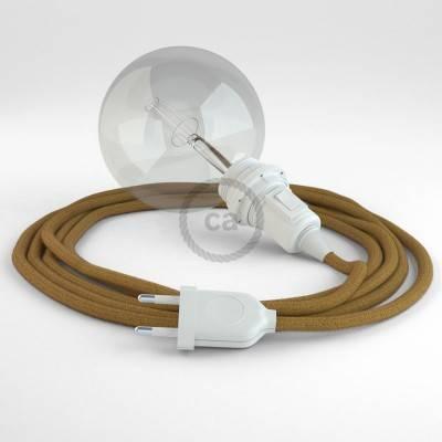 Configura il tuo Snake per paralume Cotone Miele Dorato RC31 e porta la luce dove vuoi tu.