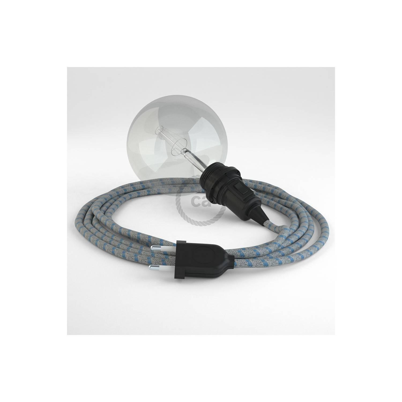 Configura il tuo Snake per paralume Stripes Blu Steward RD55 e porta la luce dove vuoi tu.