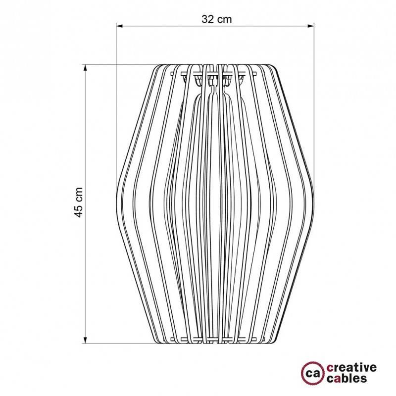 Paralume in Dibond color alluminio Pregia Rombo