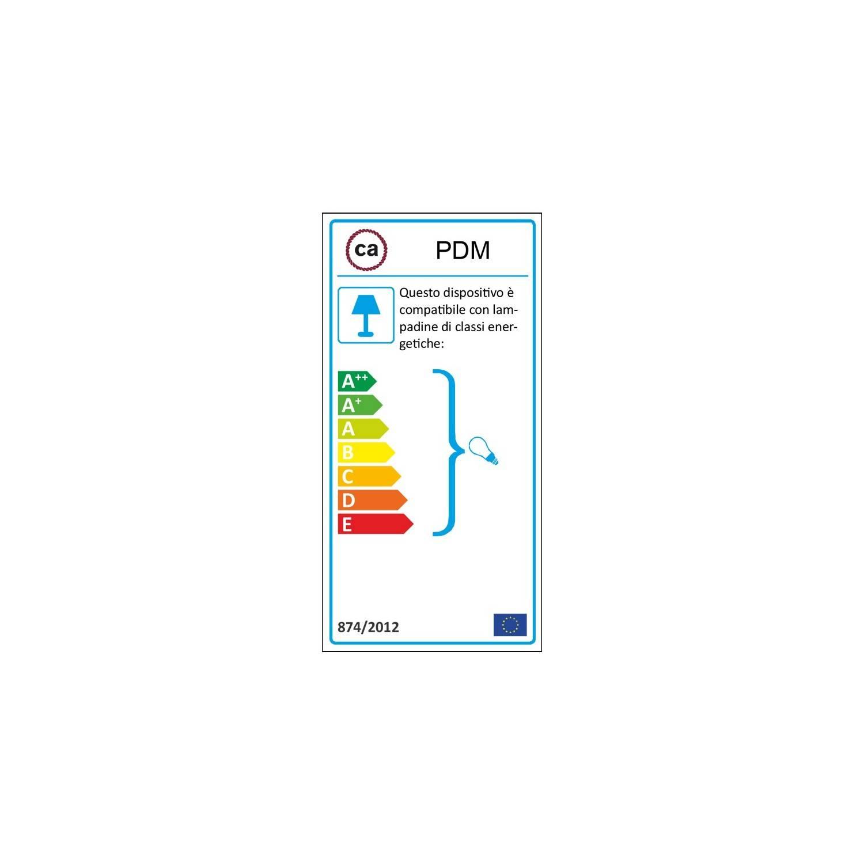 Pendel singolo, lampada sospensione cavo tessile Cotone Bicolore Miele Dorato e Antracite RP27