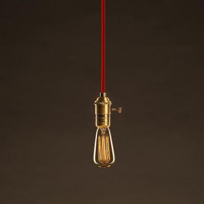 Lampadina Vintage Dorata Edison ST48 Filamento di Carbonio a Gabbia 30W E27 Dimmerabile 2000K