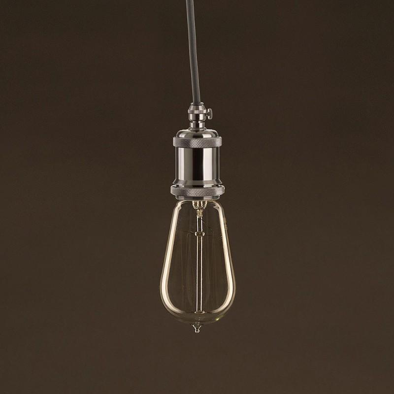 Lampadina Vintage Dorata Edison ST58 Filamento di Carbonio a Gabbia 25W E27 Dimmerabile 2000K