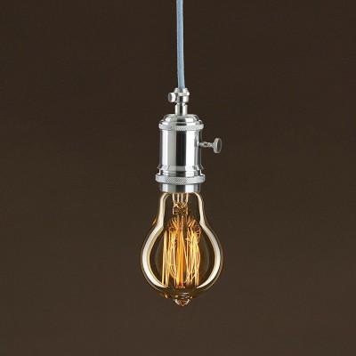 Lampadina Vintage Dorata Goccia A60 Filamento di Carbonio a Gabbia 30W E27 Dimmerabile 2000K