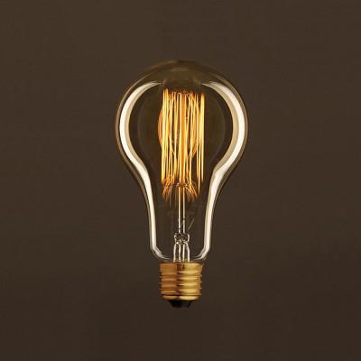 Lampadina Vintage Dorata Goccia A95 Filamento di Carbonio a Gabbia 25W E27 Dimmerabile 2000K