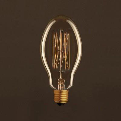 Lampadina Vintage Dorata Candela E75 Filamento di Carbonio a Gabbia 30W E27 Dimmerabile 2000K