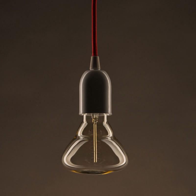 Lampadina Vintage Dorata BR95 Filamento di Carbonio a Doppia Spirale 25W E27 Dimmerabile 2000K