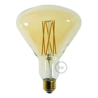 Lampadina Dorata LED BR125 Filamento a Gabbia 4W E27 Dimmerabile 2000K