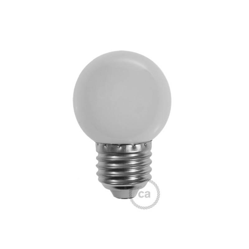 Lampadina LED Globetta G45 Decorativa 1W E27 2700K - Colore Bianco Latte