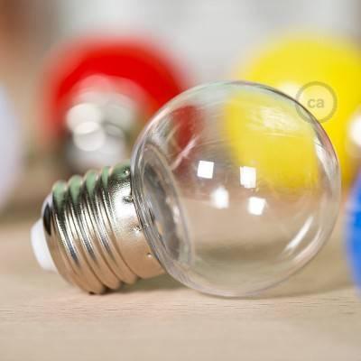 Lampadina LED Globetta G45 Decorativa 1W E27 2700K - Colore Trasparente