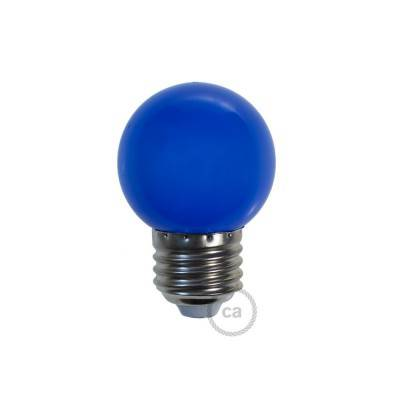 Lampadina LED Globetta G45 Decorativa 1W E27 2700K - Colore Blu
