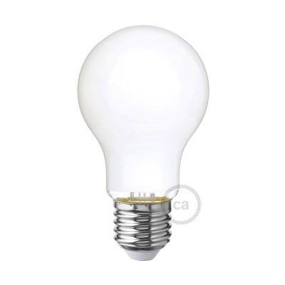 Lampadina Bianco Latte LED Goccia A60 5W E27 Dimmerabile 2700K