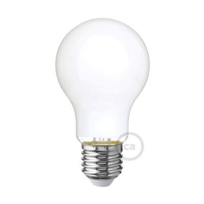 Lampadina Bianco Latte LED Goccia A60 6W E27 Dimmerabile 2700K
