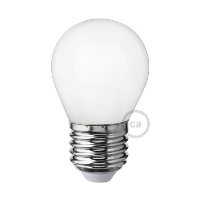 Lampadina Bianco Latte LED Mini Globo G45 4W E27 Dimmerabile 2700K