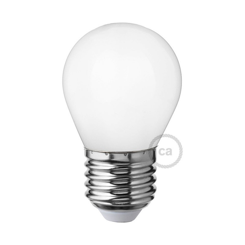 Lampadina bianco latte led mini globo g45 4w e27 for Lampadina e27