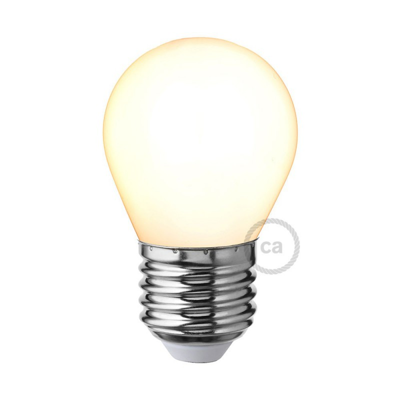 Lampadina Bianco Latte LED Mini Globo G45 4W E27 Dimmerabile 2700K