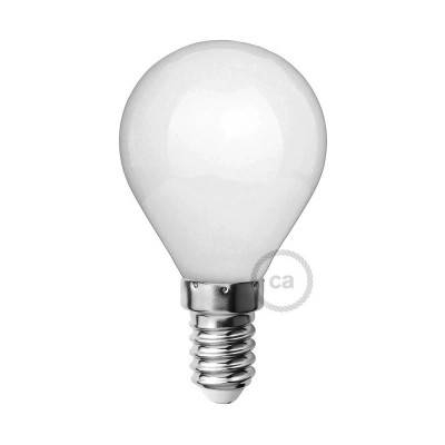 Lampadina Bianco Latte LED Mini Globo G45 4W E14 Dimmerabile 2700K