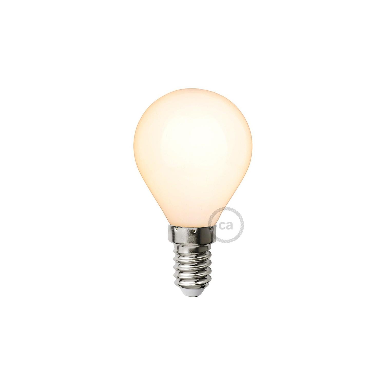 lampadina bianco latte led mini globo g45 4w e14. Black Bedroom Furniture Sets. Home Design Ideas