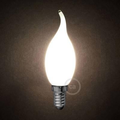 Lampadina Bianco Latte LED Colpo di Vento C35 4W E14 Dimmerabile 2700K