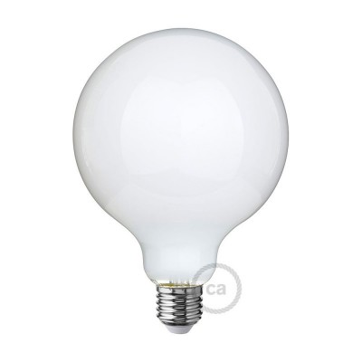 Lampadina Bianco Latte LED Globo G125 8W E27 Dimmerabile 2700K