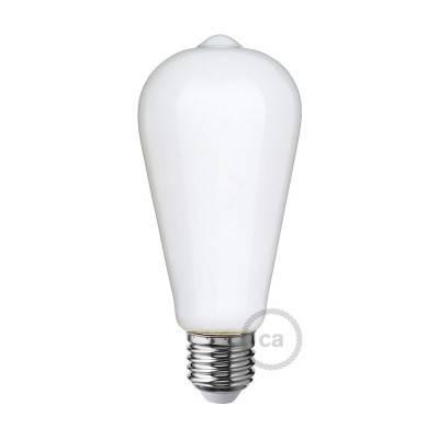 Lampadina Bianco Latte LED Edison ST64 6W E27 Dimmerabile 2700K