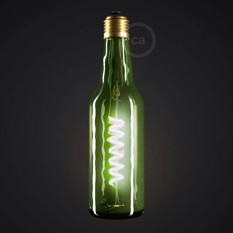 Lampadina LED Beer Verde 8W E27 Dimmerabile 2800K
