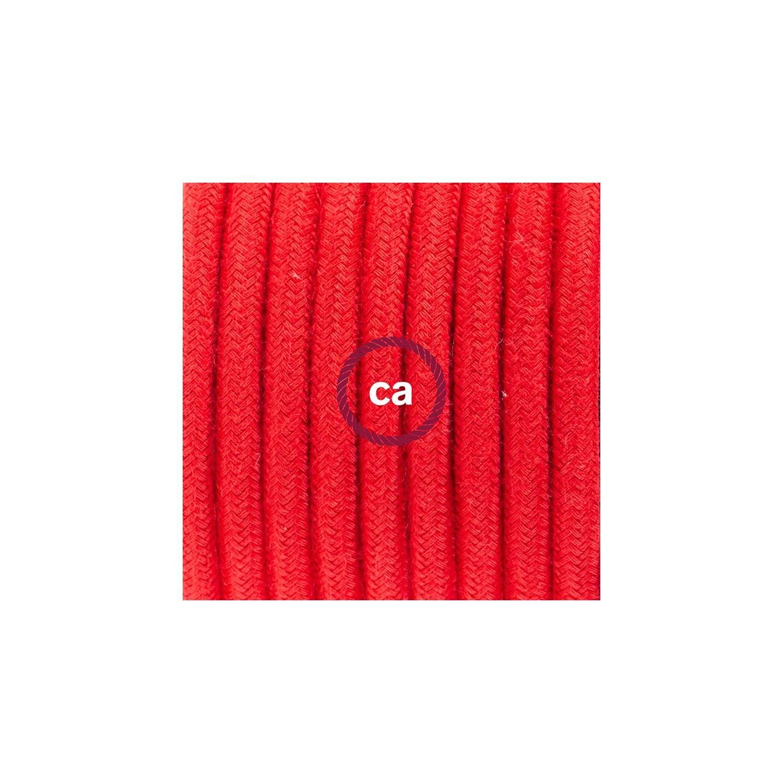 SnakeBis cablaggio con portalampada cavo tessile Cotone Rosso Fuoco RC35