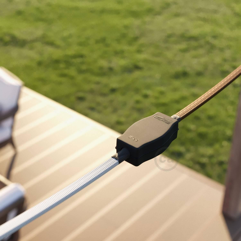 Scatola di giunzione per catenarie con adattatori per cavi tondi e rettangolari