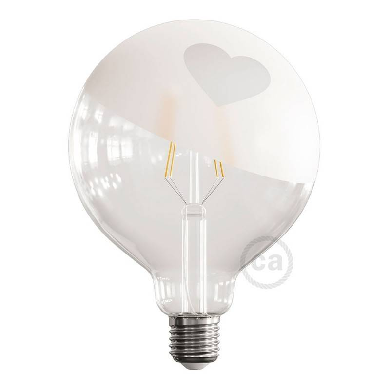 Bombillas globo W K 2700 G125 Bombillas 4 E27 LED Stripes iTPZOXuk
