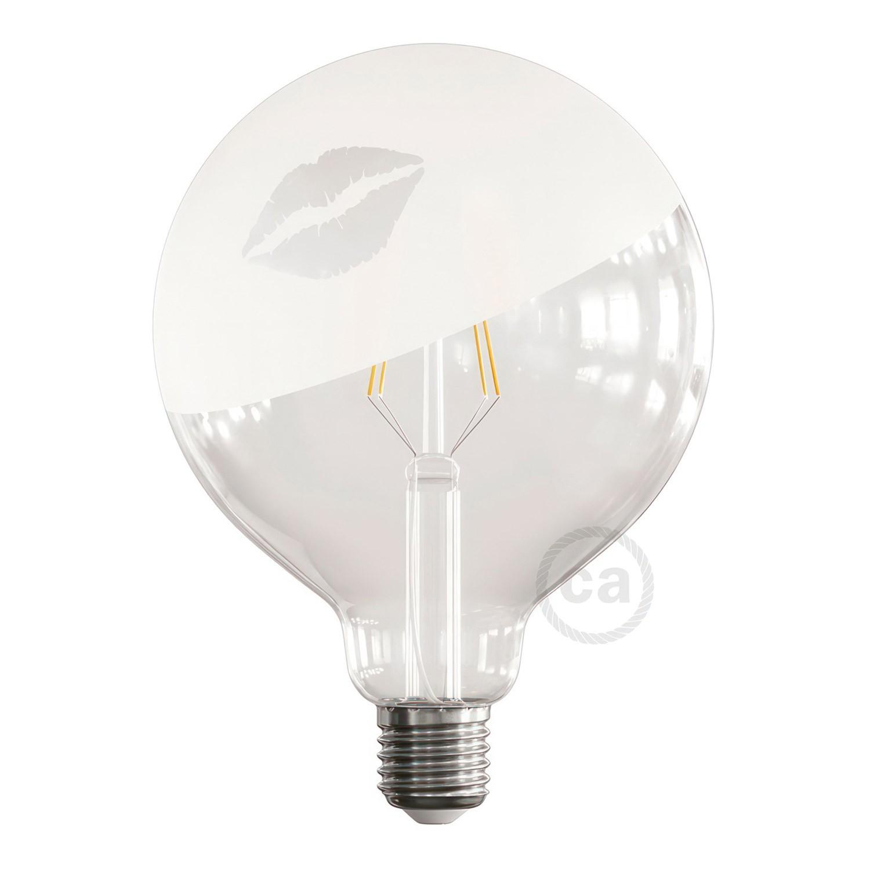 Lampadina LED Globo G125 Filamento Corto Linea Tattoo Lamp® Modello Kiss 4W E27 2700K
