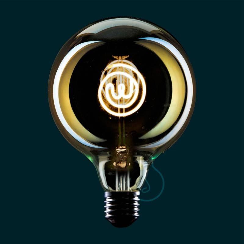 Lampadina LED Globo G125 linea Masterchef filamento Logo 4W E27 Dimmerabile 2000K