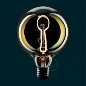 Lampadina LED Globo G125 linea Masterchef filamento Cucchiaio 4W E27 Dimmerabile 2000K