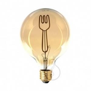 Lampadina LED Globo G125 linea Masterchef filamento Forchetta 4W E27 Dimmerabile 2000K