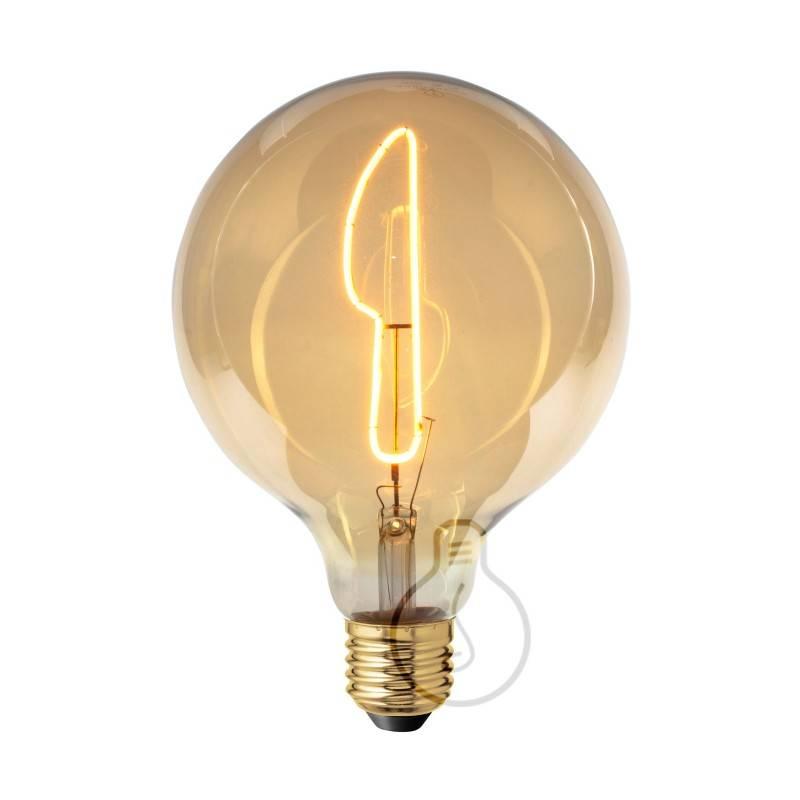 Lampadina LED Globo G125 linea Masterchef filamento Coltello 4W E27 Dimmerabile 2000K