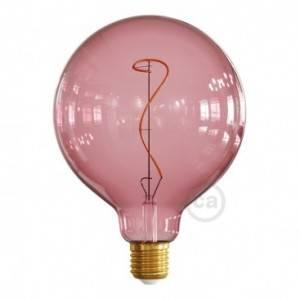 Lampadina LED Globo G125 linea Pastel Berry Red filamento Vite 4W E27 Dimmerabile 2200K